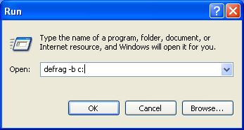 Defragment Boot Files in Windows