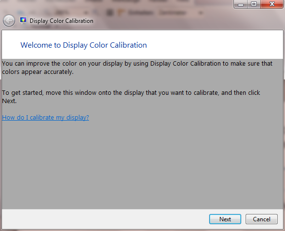 , Calibrate the screen colors and gamma in Windows 7
