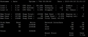 , NiceToHave tool for monitoring from the command line with Saidar