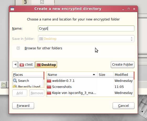 , Encrypt Folders (Ubuntu Linux)