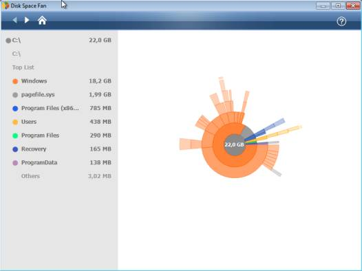 , Visualize your HDD space usage on Windows with Disk Space Fan