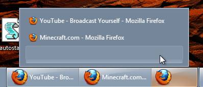 , Middle-click Options on Panel Icons in Windows 7