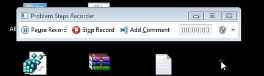 , Problem Steps Recorder in Windows 7
