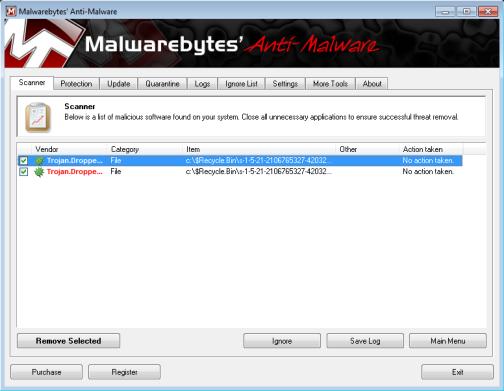 malwarebyte removal tool