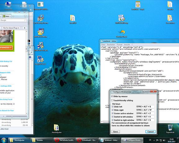 , Infinite Windows 7 Desktop with WindowSlider