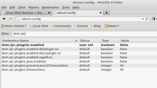 , Disable Plugin-Container in Firefox