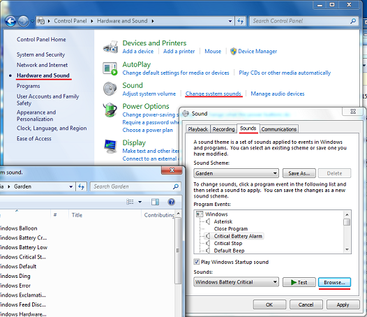 , Export and Import Sound Schemes on Windows 7