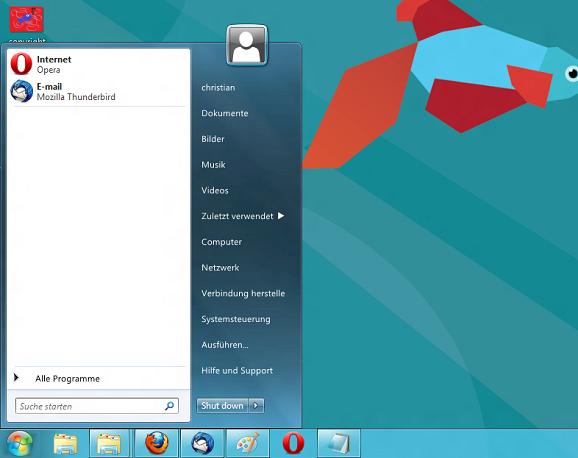 , Restore the Start button in Windows 8