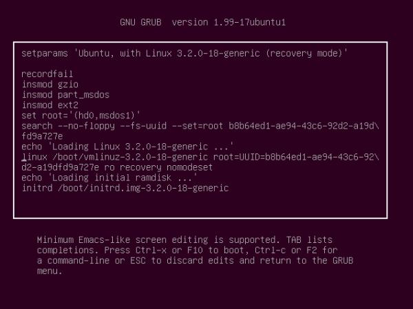 Reset root password (Ubuntu Linux) without CD