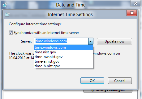 Correct wrong system time in Windows 8