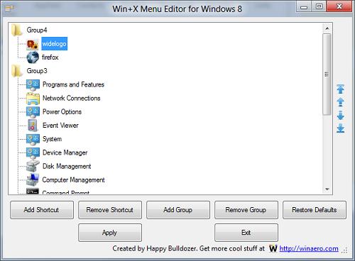 , Edit Win+X menu on Windows 8 with WinXEditor