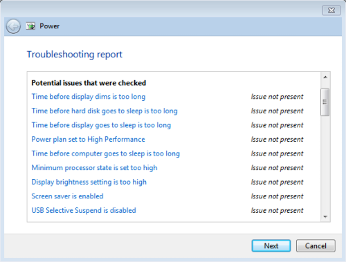 , Troubleshoot and Improve power usage on Windows 7