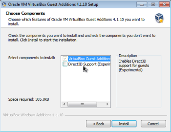 How to enable Windows 7 Aero in Virtualbox