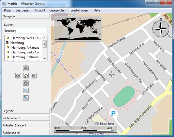 , Google Earth alternative – Marble (Linux, Windows, Mac)