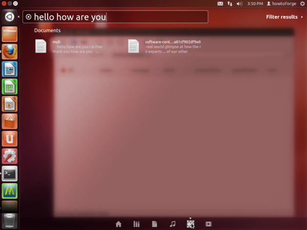 Full Text Search With Recoll Lens In Ubuntu Unity