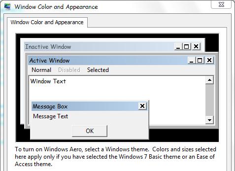 how to change default windows fotn