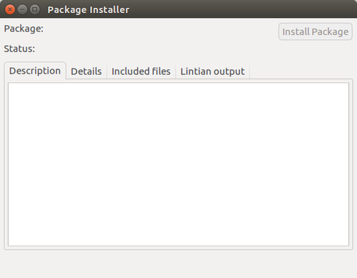 GDebi package installer