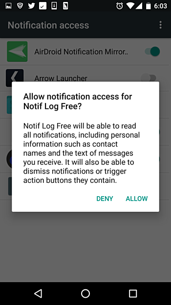 Allow Notification Access