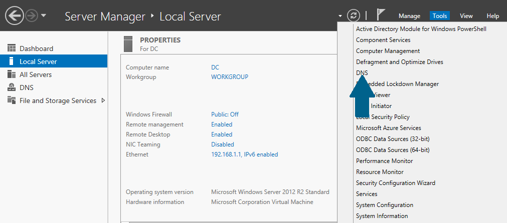 How to Set Up a DNS Forwarder in Windows Server 2012 R2