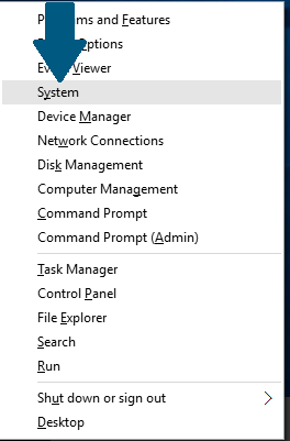 Open the Windows 10 system settings
