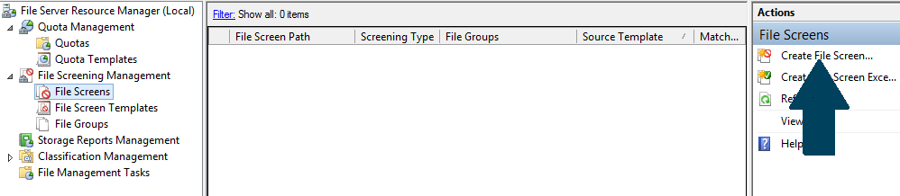 Create File Screen
