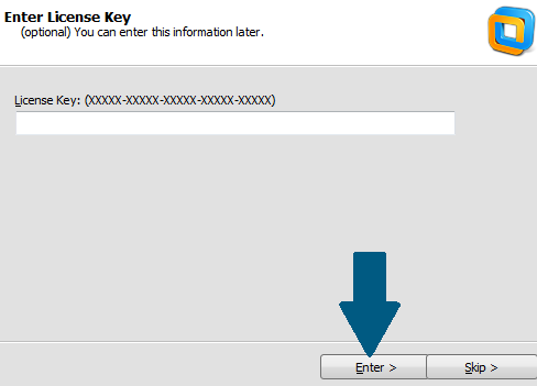 Provide the license key
