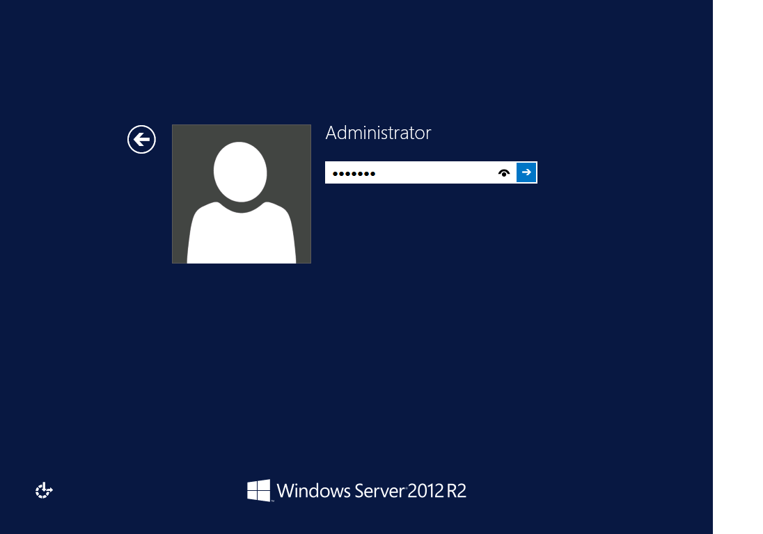 First Login to Windows 2012 R2 server
