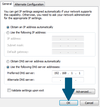 Configure DNS on the client