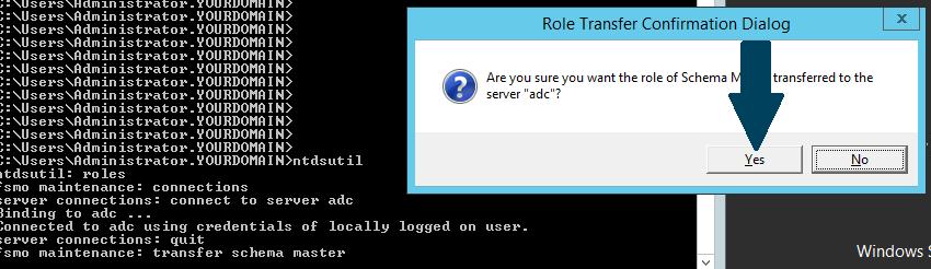 transfer schema master