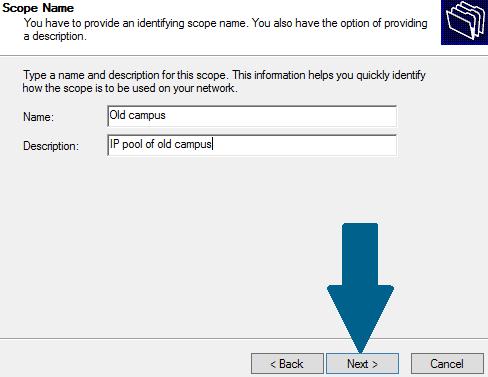 Set server name and description