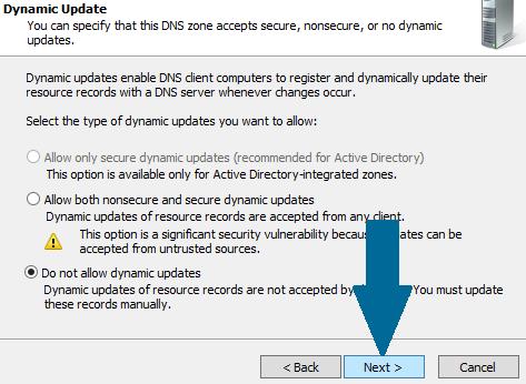 Do not allow dynamic updates