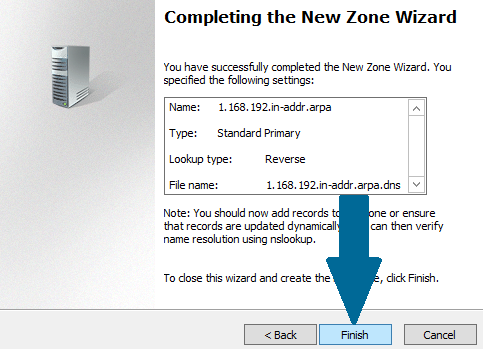 Finish the install wizard
