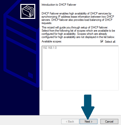 DHCP failover setup