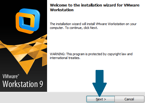 Proceed with VMWare install