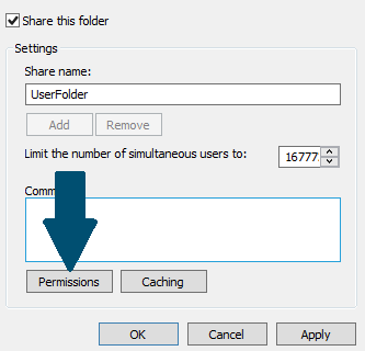 Check Share this folder box