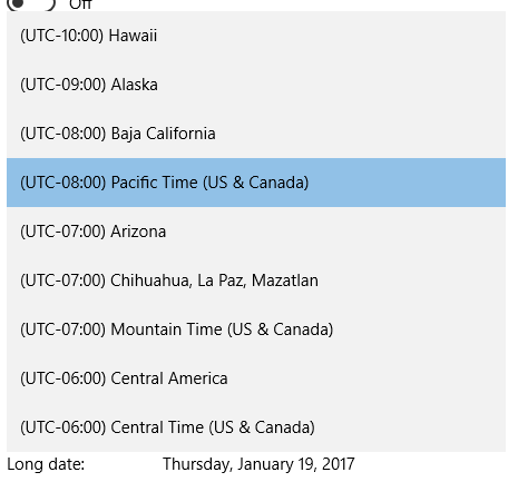 How to Change Date, Time and Time Zone in Windows 10 Professional