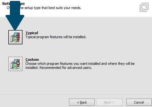 Use the typical installation features