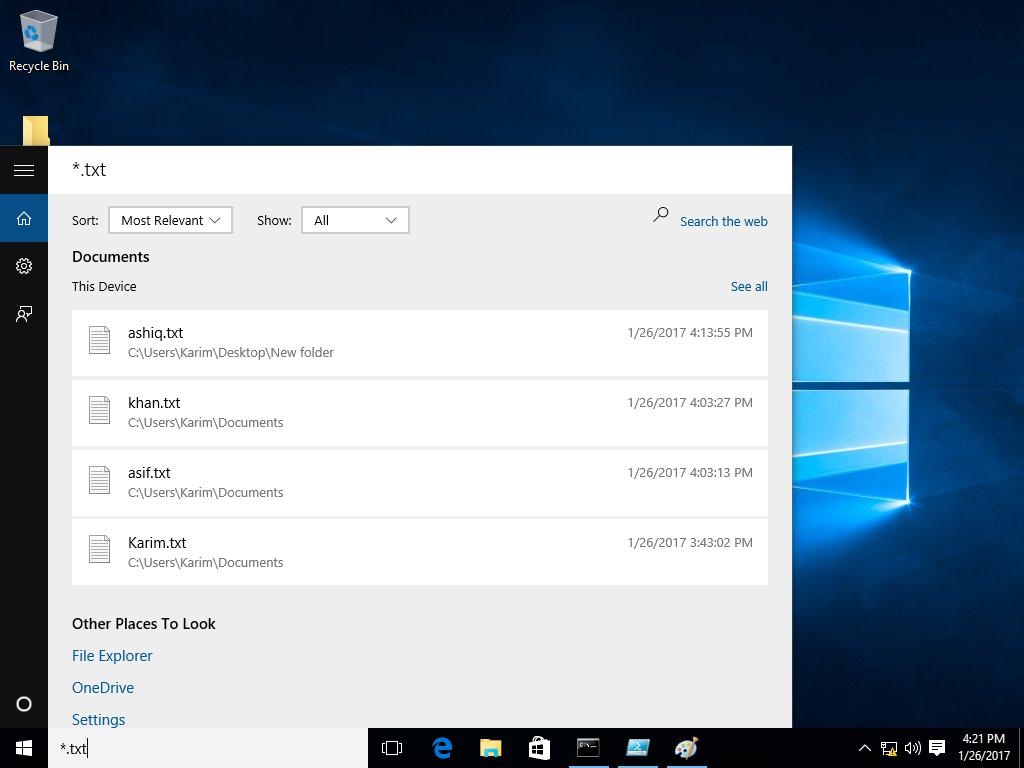 Windows MyStuff
