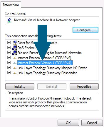 Select Internet Protocol Version 4