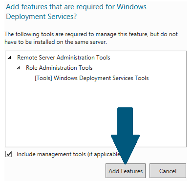 Choose Windows Deployment Services Tools