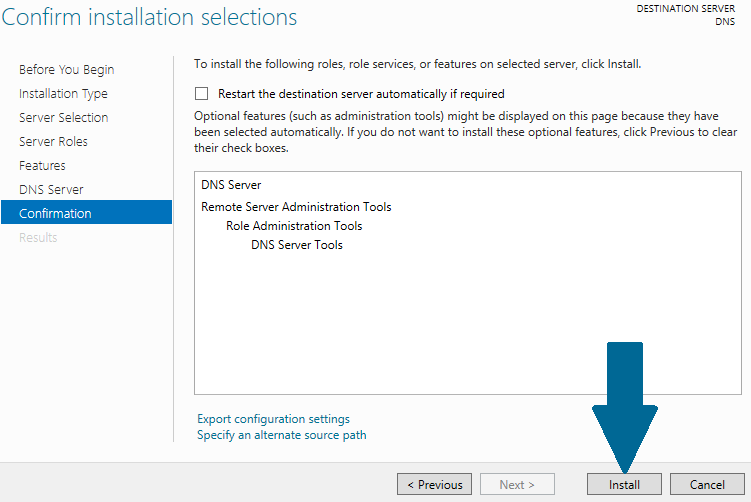 Wait for a moment before DNS role is installed