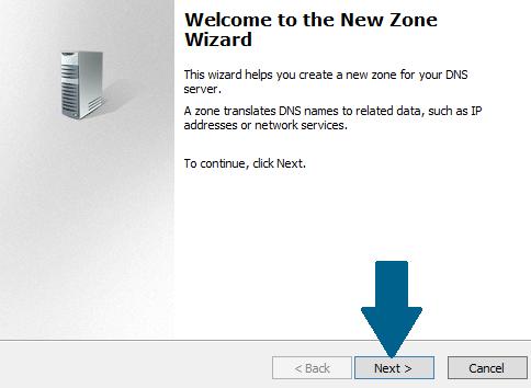 Start the New Zone Wizard
