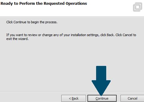 Start the VMWare installation