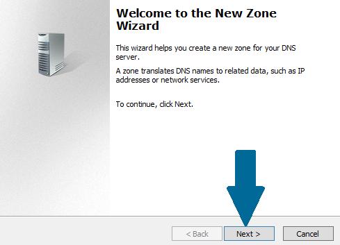 New DNS Zone Wizard