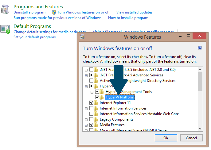 Enable Hyper-V in Windows 8.1