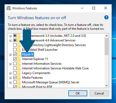 How to Enable Hyper-V in Windows 8 1 and Windows 10