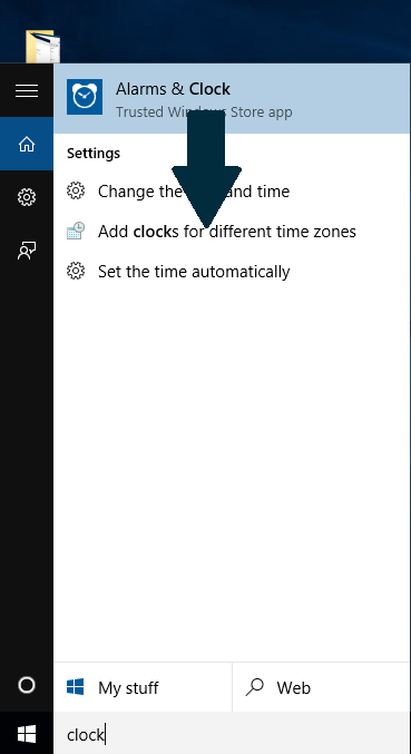 Add clocks for different time zones