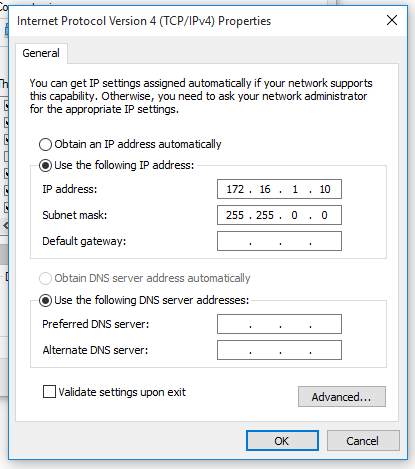 Assign an IP address