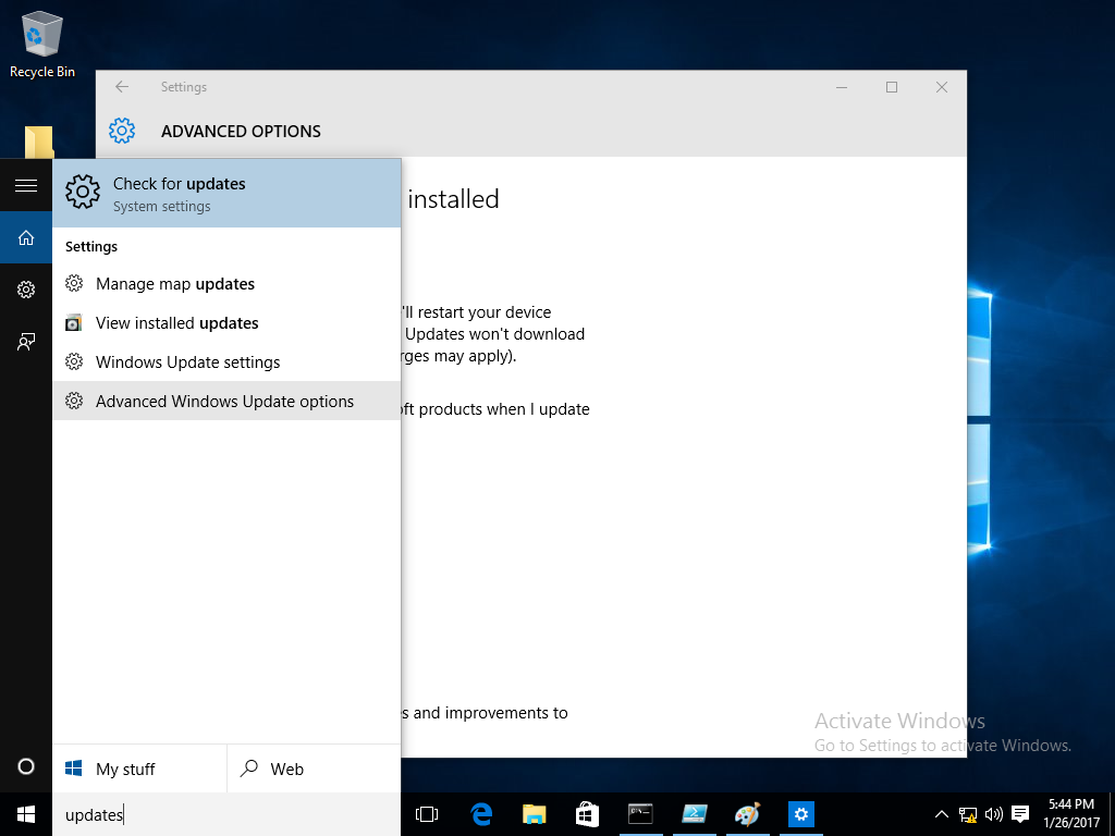 Configure Automatic Updates in Windows 10