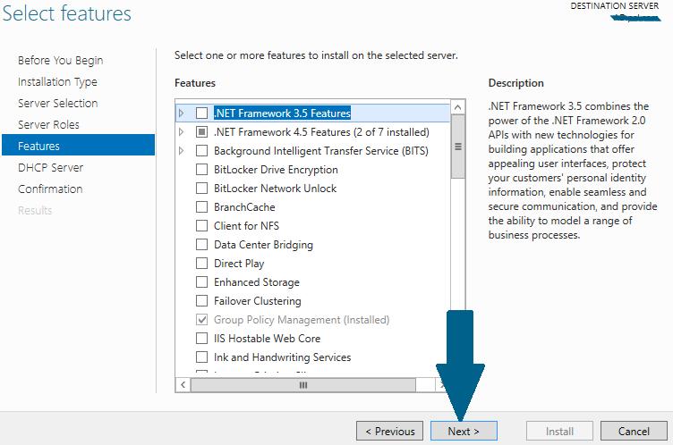 Install .NET Framework